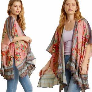SALE Umgee NWT Boutique Kimono Cardigan S-2X